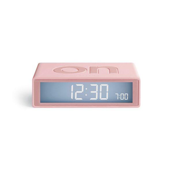 Lexon Flip Travel Lcd Alarm Clock On Off Faces